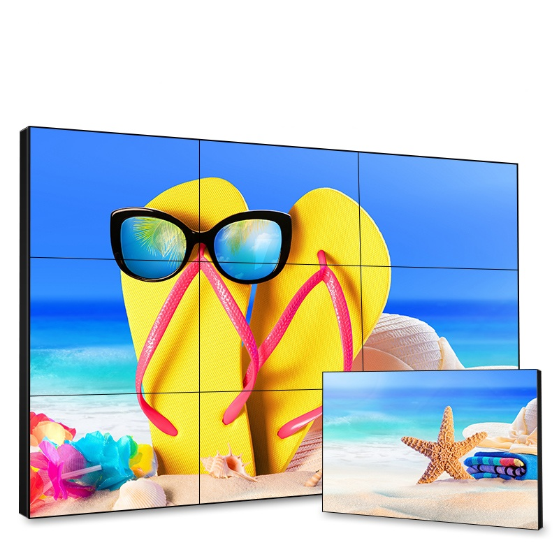 49 inch Mobile Bracket LCD Video Wall 3.5mm LG Samsung Panel Indoor Full Color LCD Display