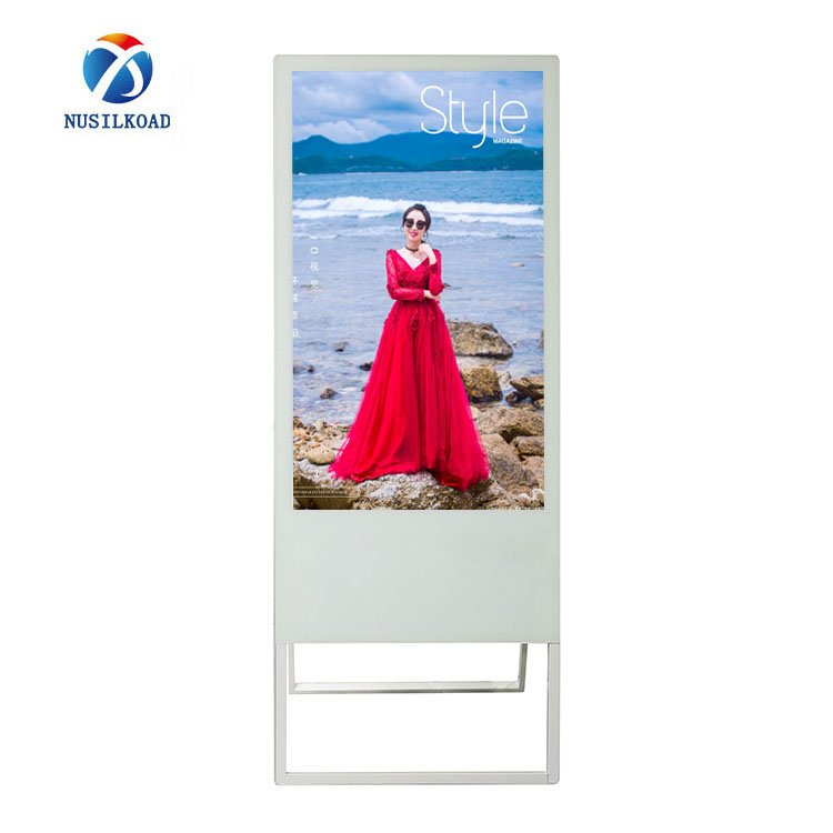 Stand Alone Multimedia Digital Banner Stand Advertising Poster With LCD Smart Split Screen For Outlets Featured Image