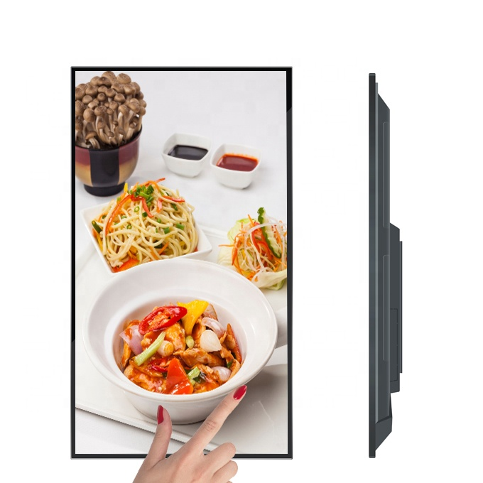 43 inch touch digital signage wall mount advertising screen, support advertising publishing/Wifi/LAN/Android/Windows for option