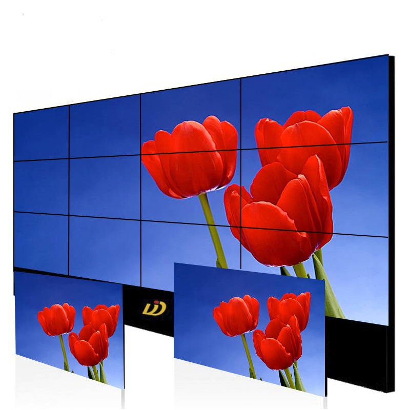 LCD / TFT 3.5mm Narrow Bezel Video Wall Display Screen, Full Color Wall Mounted LCD Video Wall Advertising Player