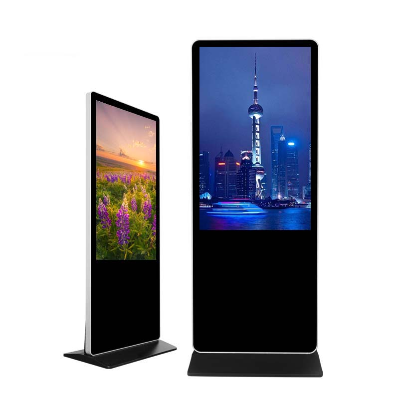 Nusilkoad! Large Size 65 Inch Floor Standing Lobby Multi Touch Screen Digital Signage Kiosk