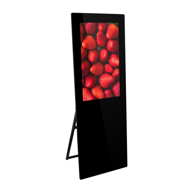 32/43 inch LCD portable digital poster signage advertising display, support Android/Windows for option