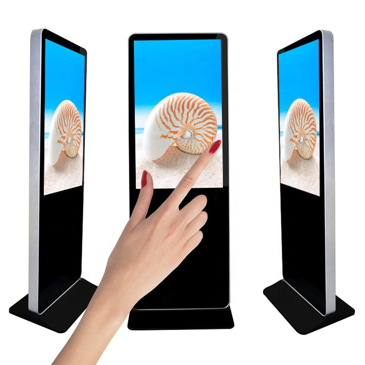 49 inch free standing touch advertisement display, Windows/Android wifi/LAN CMS software cloud content management(Option)