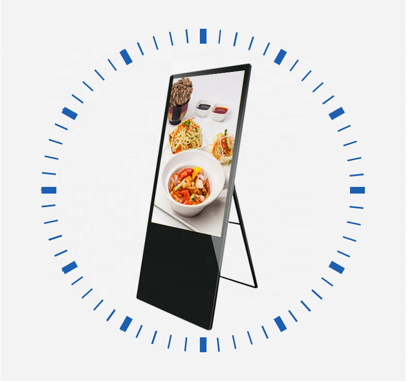 32/43 inch selfie epaper LCD portable digital signage advertising display, support Android/Windows for option