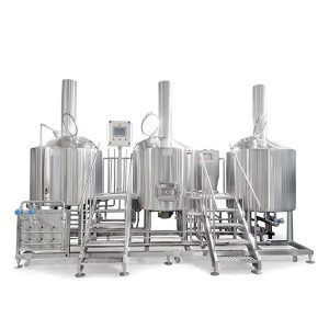 Three vessel brewhouse, mash, lauter tank, kettle&whirlpool