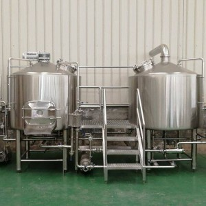 1000L 2vessel brewhouse, mash&lauter tank, kettle&whirlpool