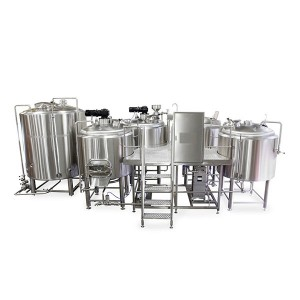 5000L four vessel brewhouse: mash, lauter tank, kettle, Whirlpool
