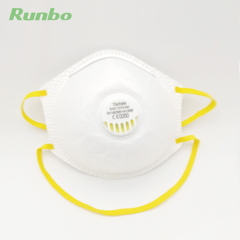 PE Disposable Niosh Approved Dust FFP2 Safety Nose Mask N95 Particulate Respirator Nose Mask with Valve Featured Image