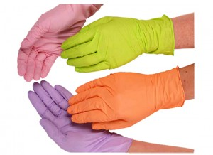 Disposable Gloves Nitrile Latex Cleaning Food Gloves Universal Household Garden Kitchen Cleaning Gloves