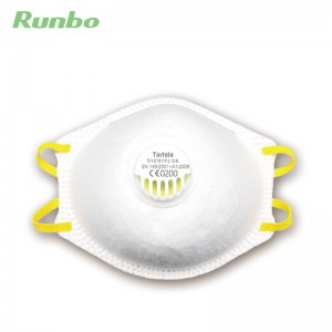 PE Disposable Niosh Approved Dust FFP2 Safety Nose Mask N95 Particulate Respirator Nose Mask with Valve