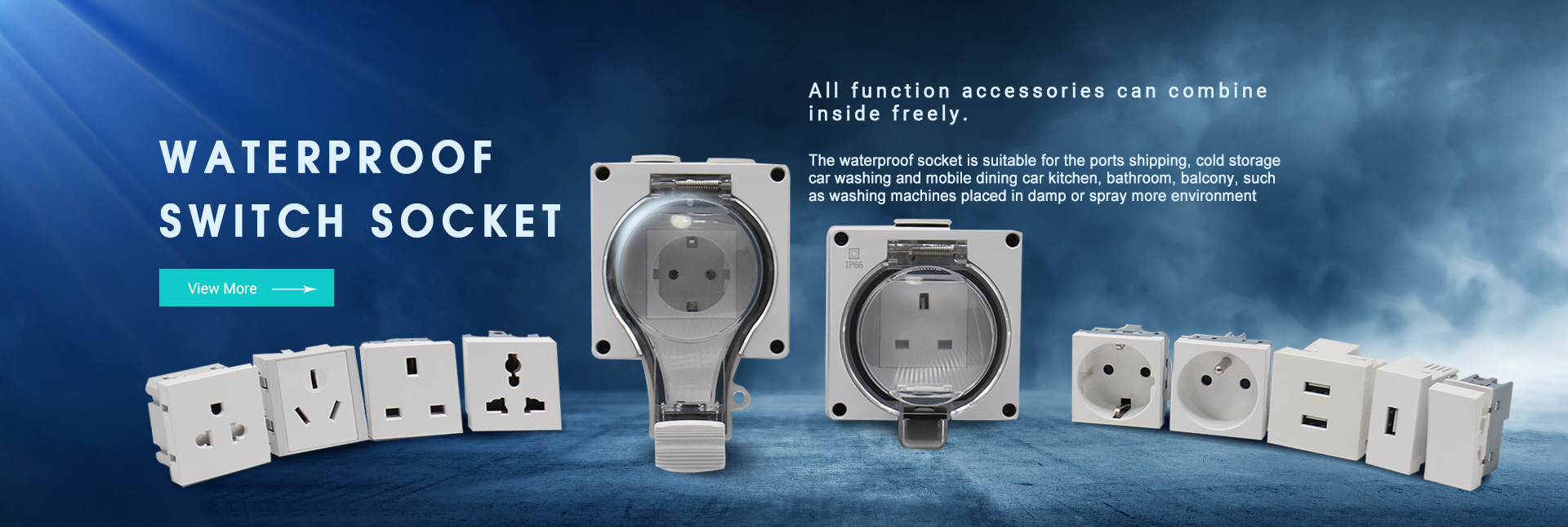 waterproof  switch socket