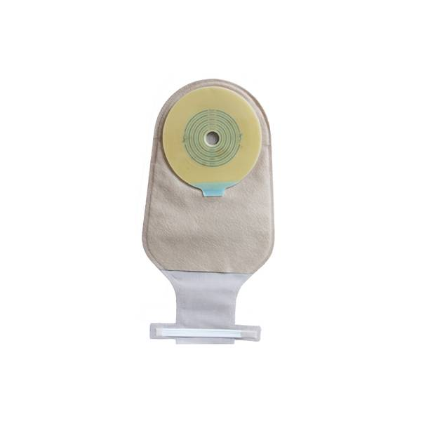 One piece disposable hydrocolloid ostomy bag