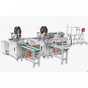 1+2 fully automatic high quality hot sale face mask making machine with fair price