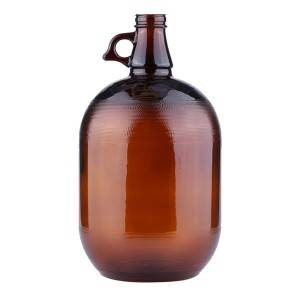 4L Groeler Beer Wine Amber Glass Bottles with Black Phenolic Lid