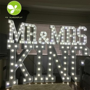 Professional Factory Custom Made LED Light Up Marquee Signs LED Bulbs for Wedding Events