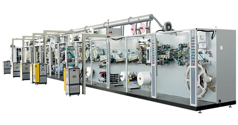 Full-servo Control Protection-kutayikira Sanitary Napkin Production Line Featured Image