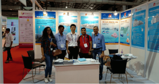 Peixin participou no TECHNOTEX 2018 en Mumbai, India