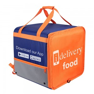 Custom 1680D material Insulated lunch cooler delivery bag with shoulder straps