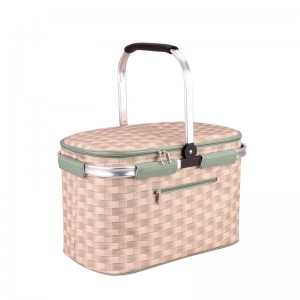 polyester cooler basket with fashion pattern