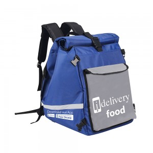 High quality 1680D material Insulated thermal lunch cooler delivery bag with logo printed