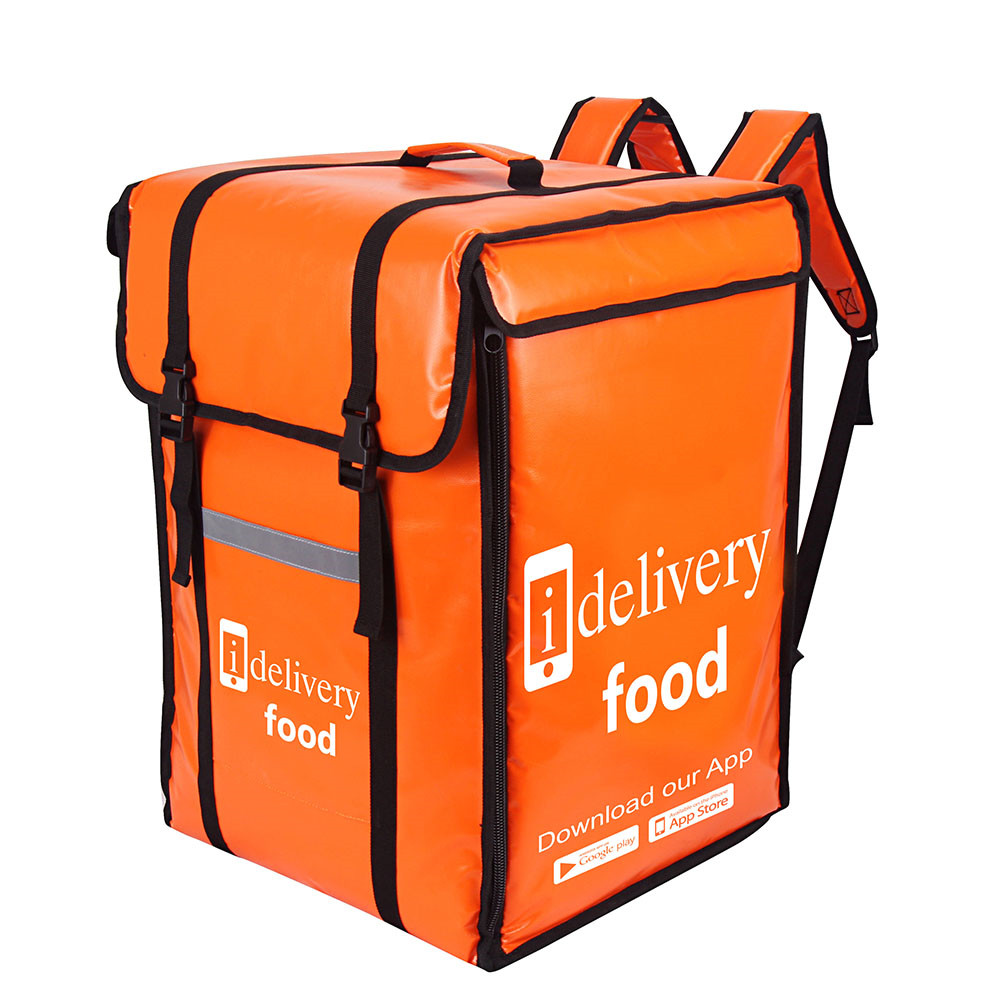 Custom Big waterproof thermal insulated food delivery backpack for Restaurants Featured Image