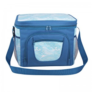 Polyester fabric watertight insulated cooler bag for picnic