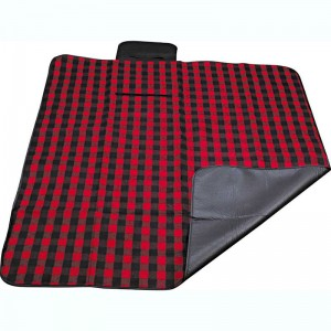 Polyester fleece picnic mat blanket with waterproof backing