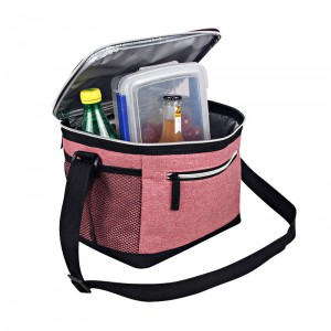 Insulated Portable Oxford Fabric Cooler Bag With Adjustable Shoulder Strap