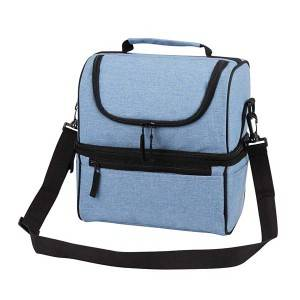 Canvas Polyester Catinonic Double-deck Lunch Bag