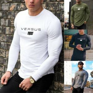 Exercise Elasticity Sport Long Sleeve Men T-Shirt PY-NC004