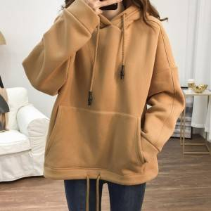 Drawstring Thicken Long Sleeve Women'S Hoodie PY-WW004