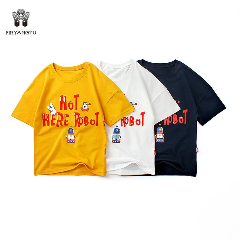 100% Cotton Short Sleeve Boy T-Shirt PY-TD002 Featured Image