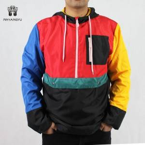 Plus Size Color Matching Sport Men Jacket PY-MJ004