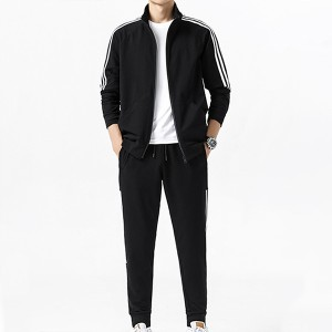 New style three-bar slim casual sportswear autumn and winter men's sports suit