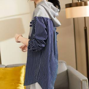 Loose And Versatile Splicing Mid-Length Women Hoodie PY-WW001