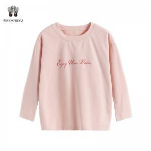 Cotton Plain Long Sleeve Girl T-Shirt PY-GTC001