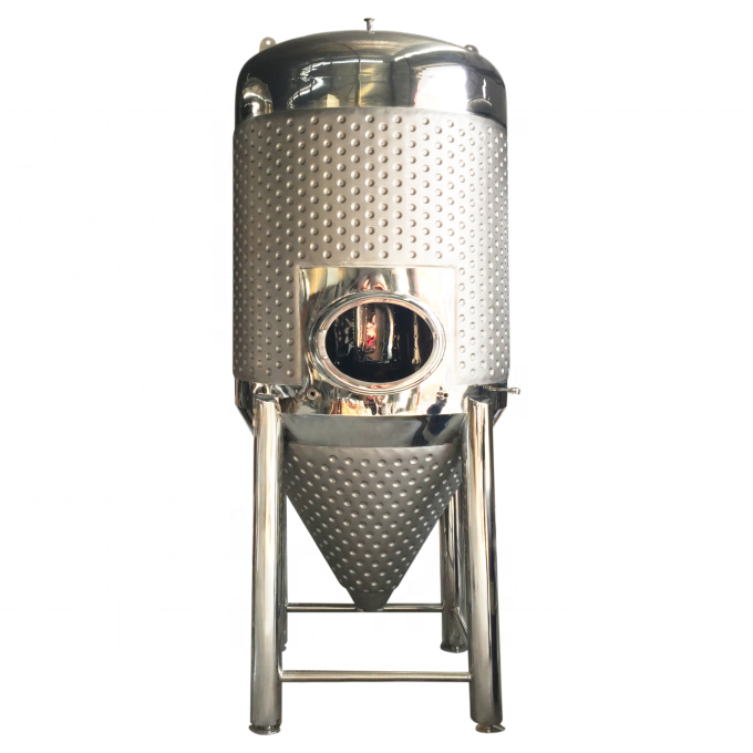 Cheapest Factory Beer Conical Fermentation Tank - 1000L industrial stainless steel beer wine fermentation tank with cooling jacket – Pijiang