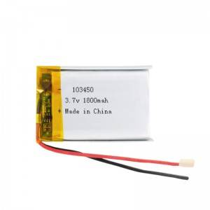 High quality 3.7v 1800mAh rechargeable lipo battery customized for Eye protector, beauty apparatus, early education machine,medical device etc.