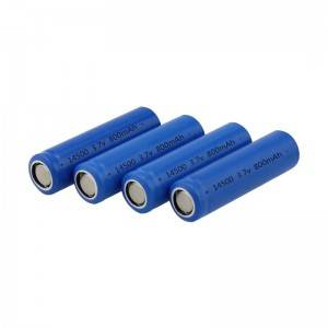 Rechargeable Cylindrical LiFePO4 Battery 14500 3.7V 800mAh Battery Cell for Bluetooth Speaker, Toys,Clock