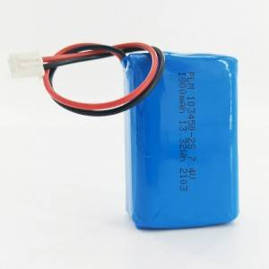 High performance rechargeable  lipo 103450 2000mAh 3.7v lipo battery pack