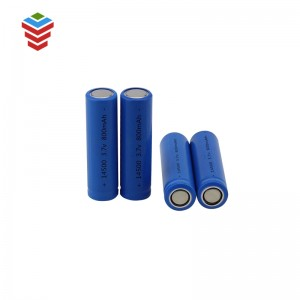 Deep Cycle LiFePO4 800mAh 3.2V /3.7V Rechargeable IFR 14500 Battery Cells