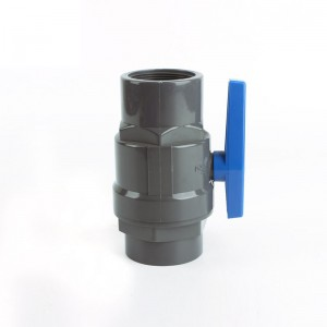 OEM/ODM Manufacturer Pp-R Fitting Blind End - PVC two pieces ball valve with blue plastic handle – Pntek