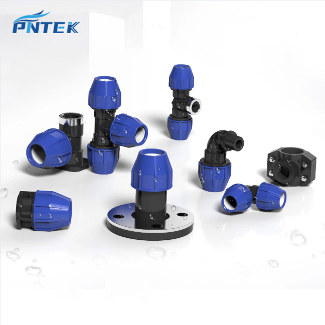 PP compression valves and fittings