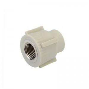 Grey color PPR fittings socket with brass insert