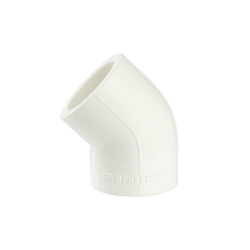 White color PPR 45 elbow