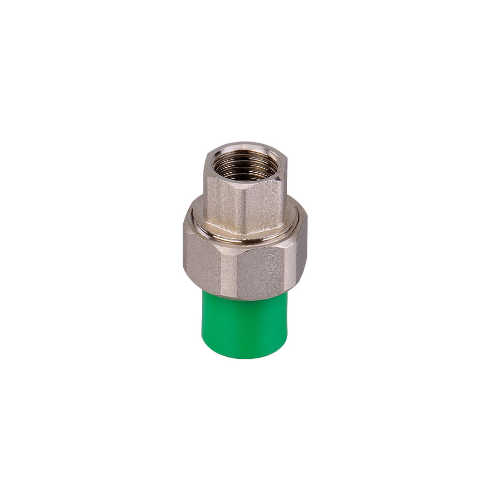 Green color ppr fittings with brass insert
