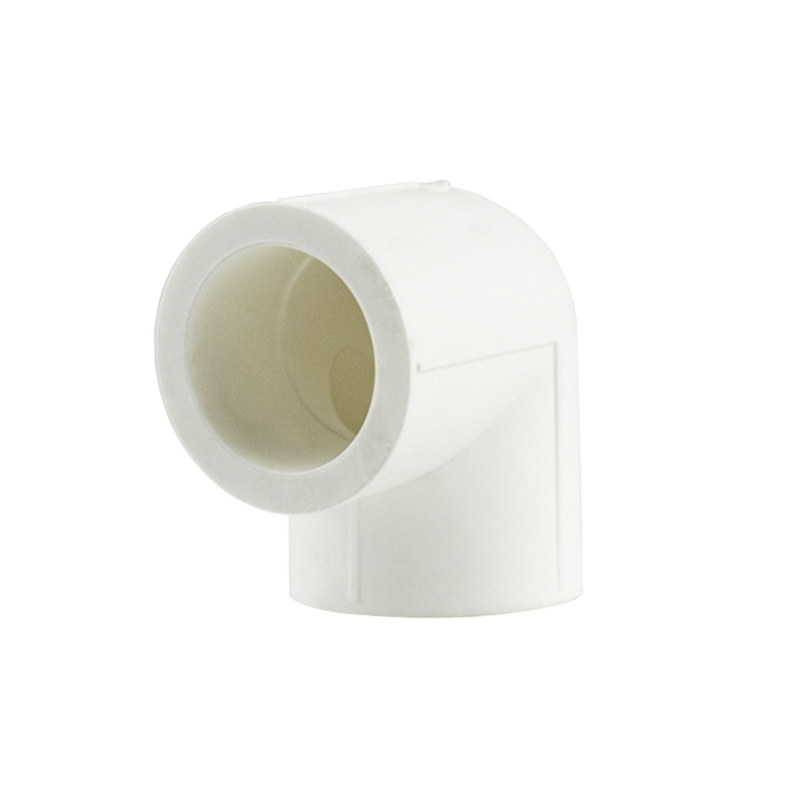 White color PPR 90 elbow