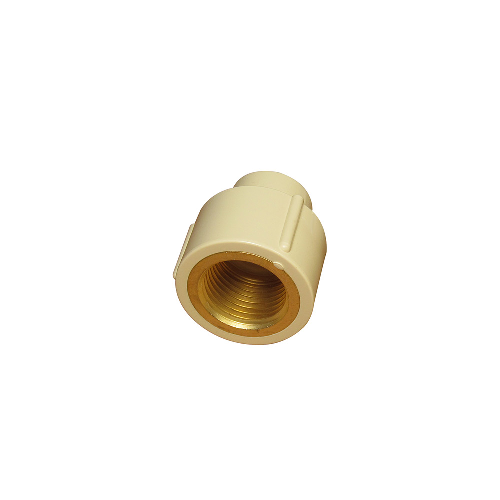CPVC fittings with brass insert