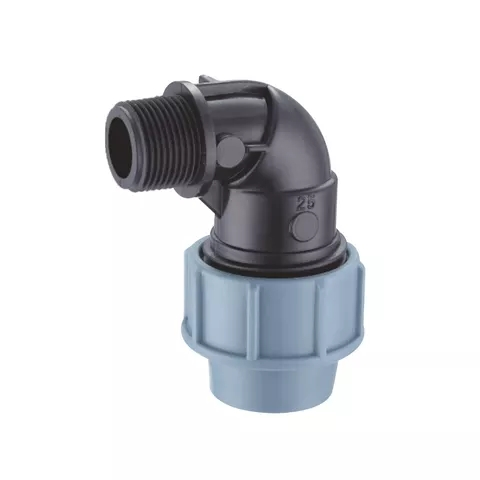 PP compression fittings blue color