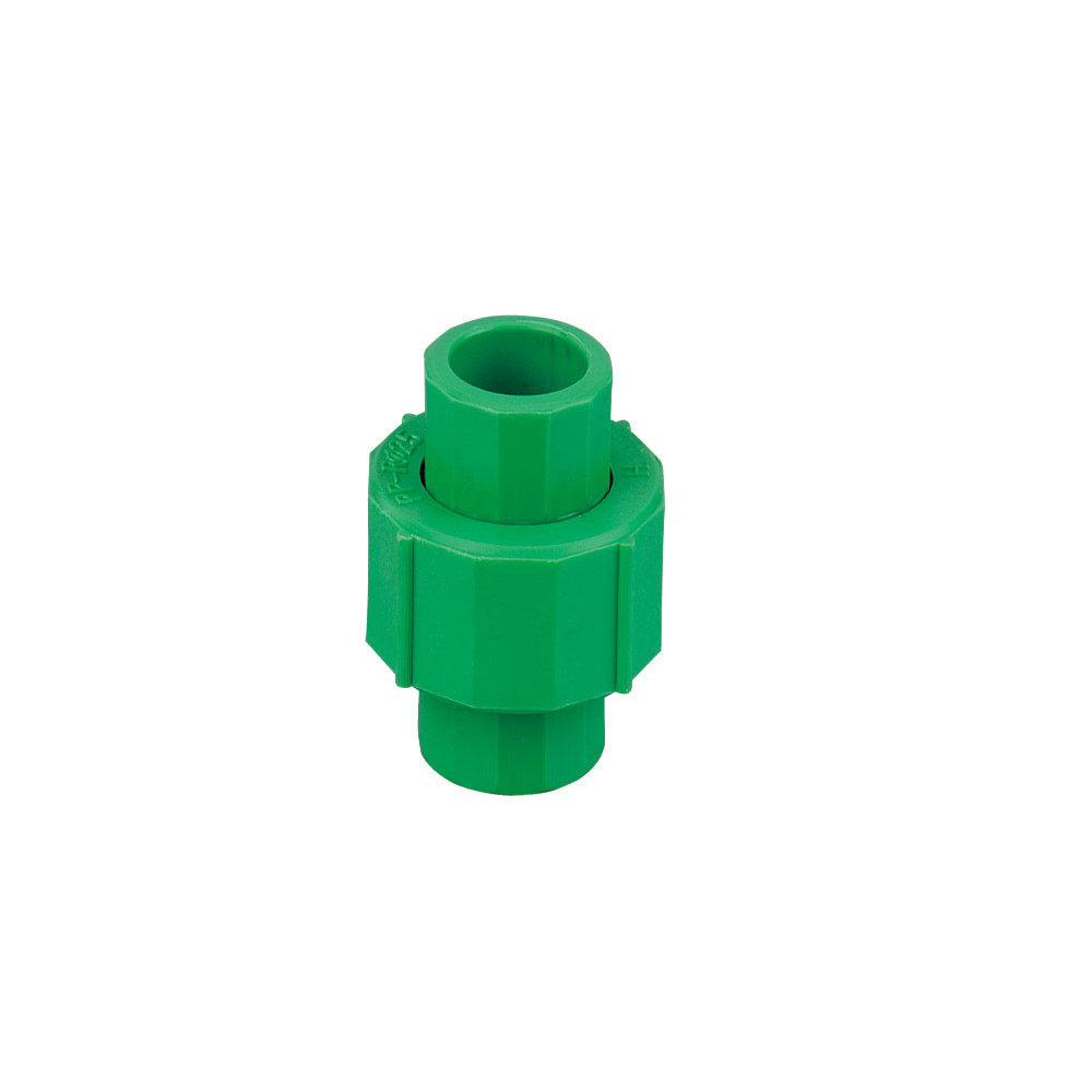 Green color ppr fittings union